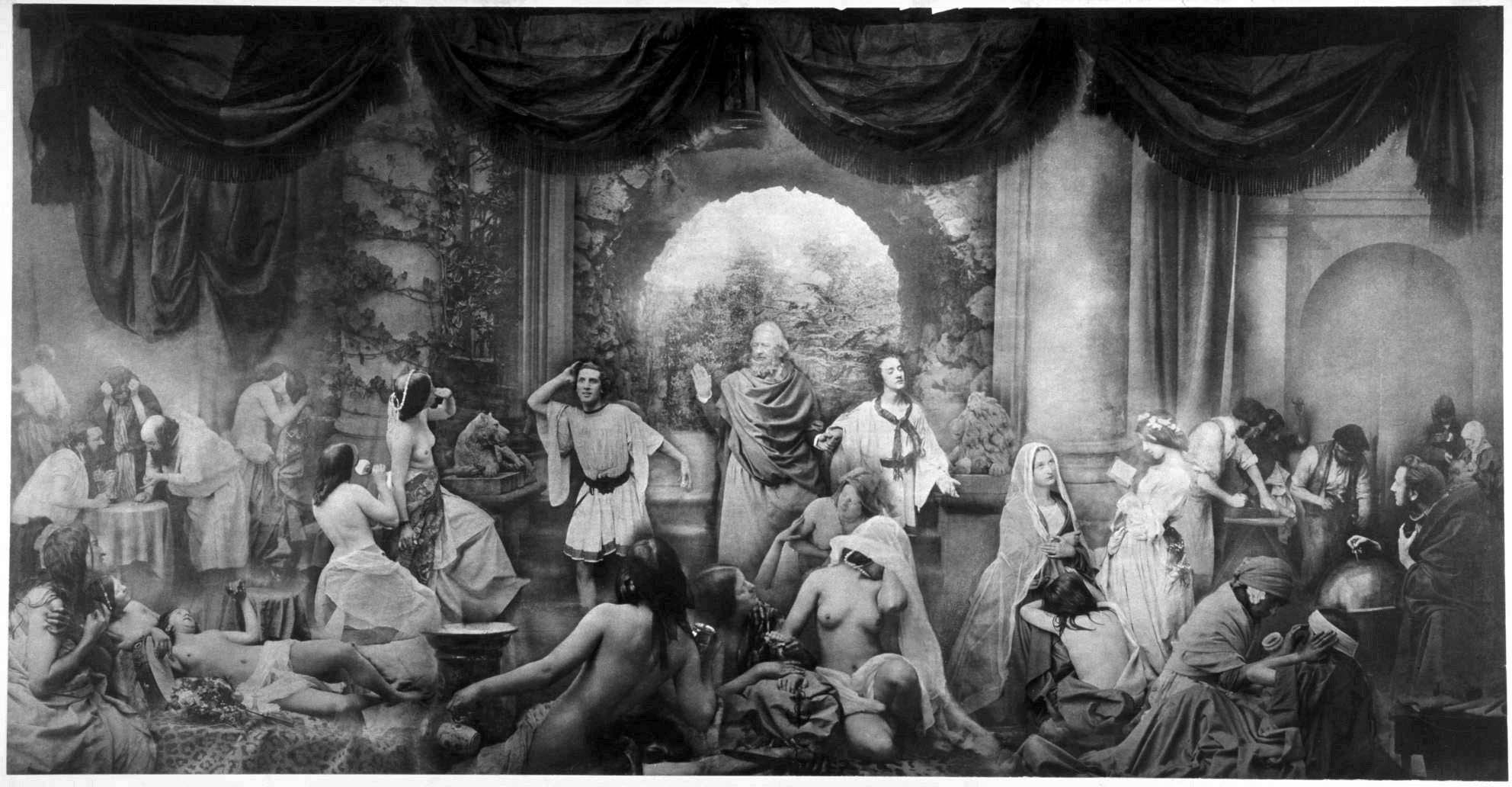Oscar Rejlander, The Two Ways of Life. Allegorical composition made using multiple negatives, 1857. Techniques of this kind were the Victorian equivalent of photoshop.