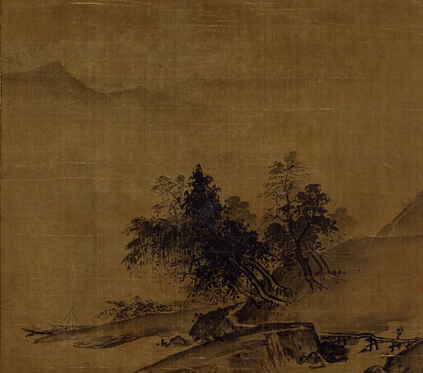 Album leaf by Xia Gui (fl.1195-1224), Song Dynasty landscape painter.
